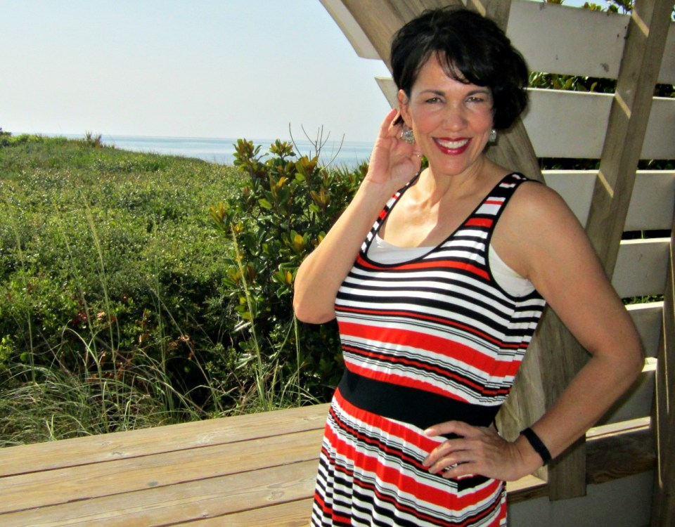 Seaside, Florida In A Fabulous Hi-Lo Dress