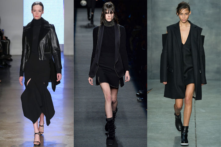 NYFW- All Black Everything -Dion Lee, Alexander Wang, Vera Wang, Photo Credit: Indigitalimages.com via http://www.glamour.com/fashion/2015/02/most-wearable-fall-fashion-trends/11