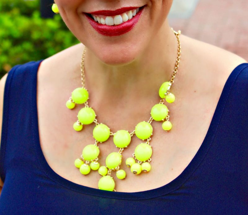 Neon accent necklace