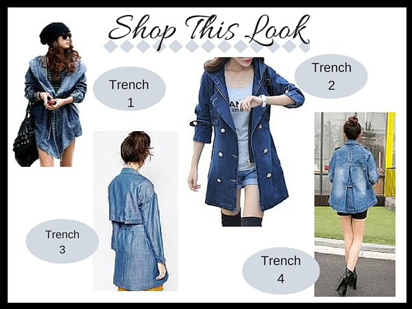 Cute Denim Trench, Shop This Look