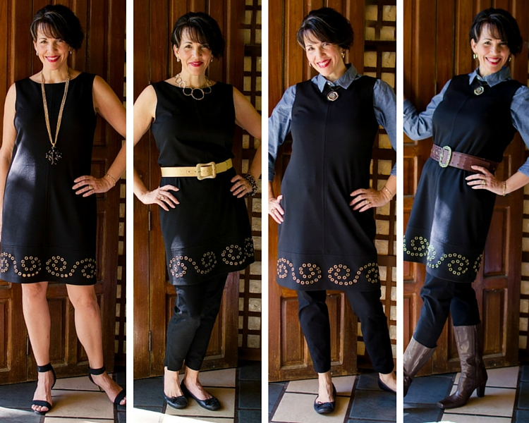 Little Black Dress (LBD) Worn 4 Ways