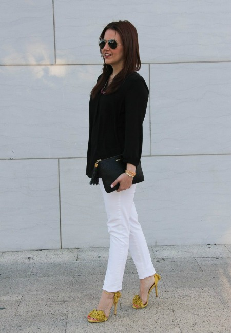 Yellow Fringe Sandals