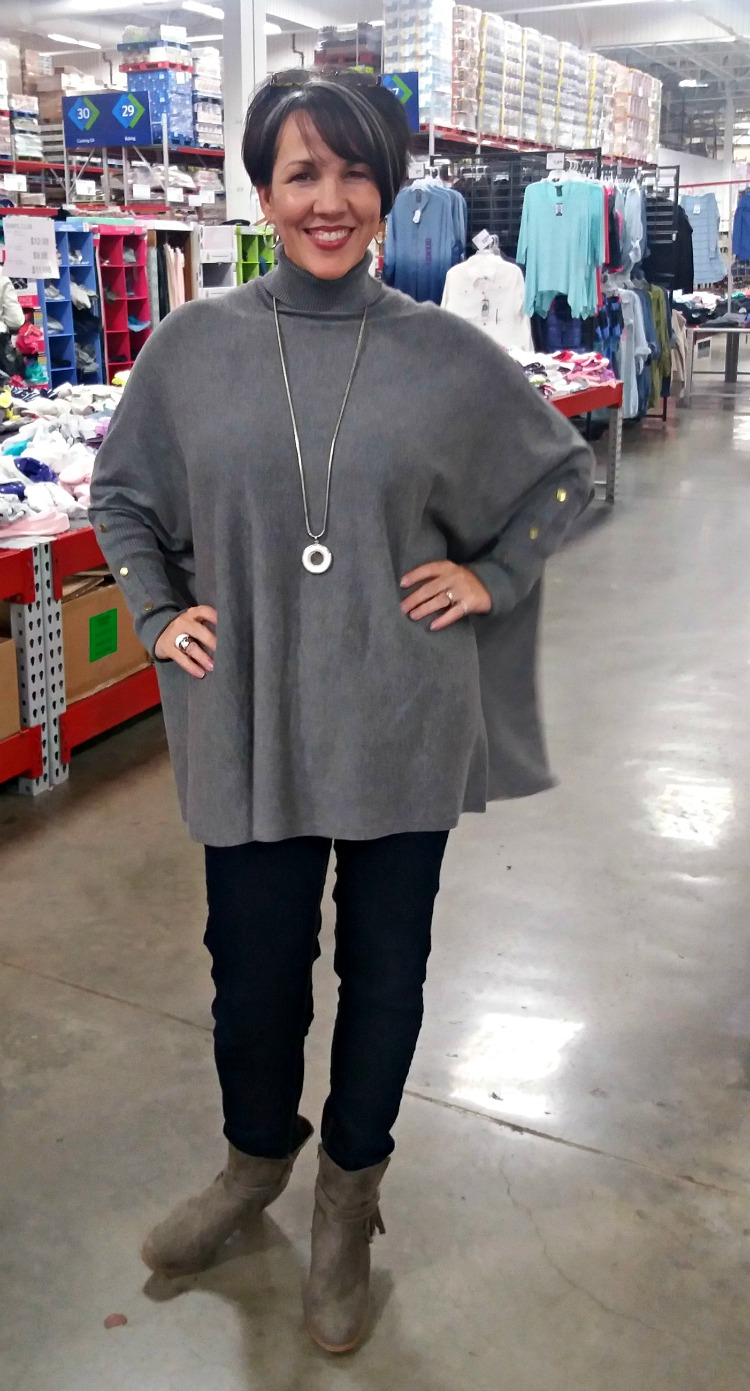 winter gray sweater, what I really wore