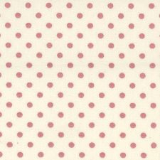 iivory-pink polka dot fabric