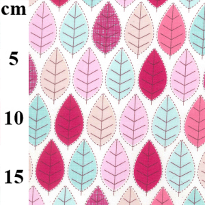 leaf print poplin