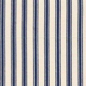 Navy ticking stripe cotton poplin