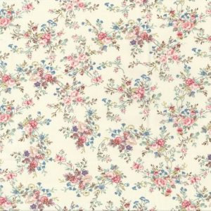 pretty floral print on ivory
