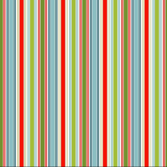multi stripe christmas fabric