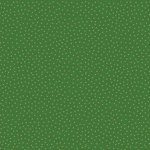 metallic green spot print on green background fabric
