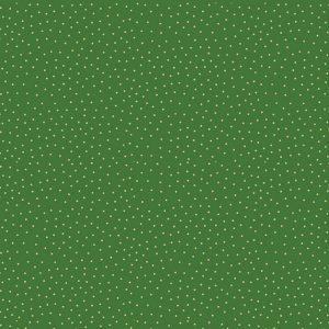 metallic green spot print on green background fabric