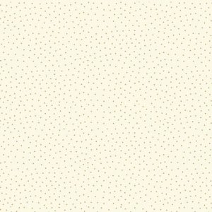 metallic spot print on cream background fabric