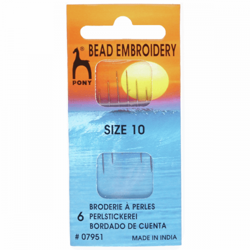 Hand Sewing Needles: Beading/Embroidery: Gold Eye: Size 10