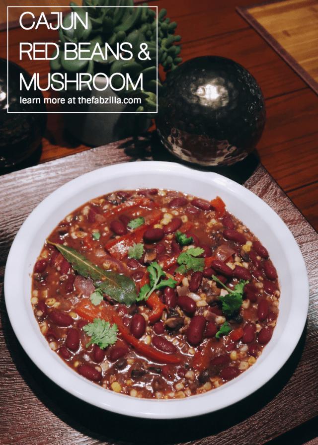 vegan-cajun-red-beans-mushrooms