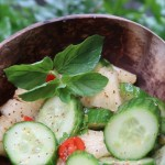 Hawaii Lifestyle Blogger Thefabzilla shares a refreshing cucumber pineapple summer salad recipe