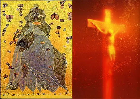 Elephant Dung Madonna and Piss Christ