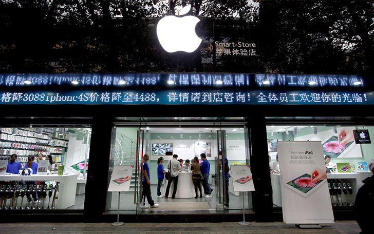 There are fake Apple stores in China.