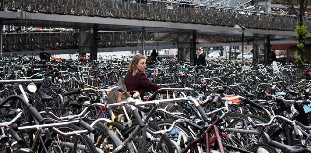 There are more than 1 million bicycles in Amsterdam.