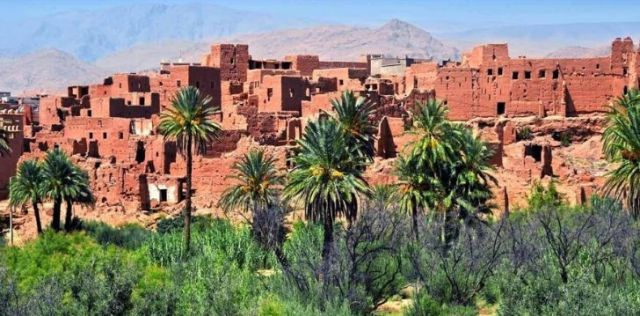 Old Moroccan buildings.