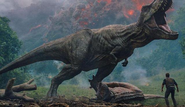 A scary roaring T-Rex.