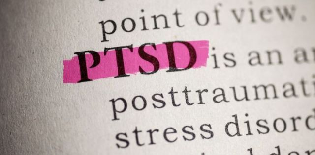 The word PTSD in the English dictionary