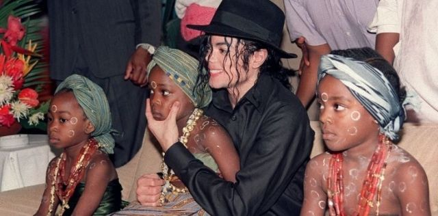 Michael Jackson with African children