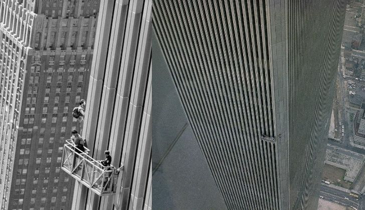 A picture of George Willig who climbed one of the Twin Towers