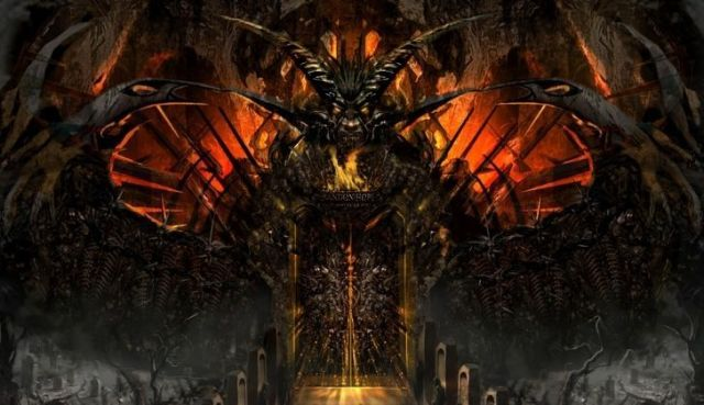 Art work of the gates to hell