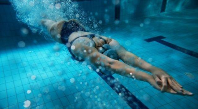 Someone swimming under water