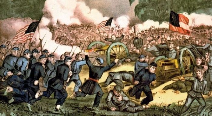 A drawing of the American Civil War