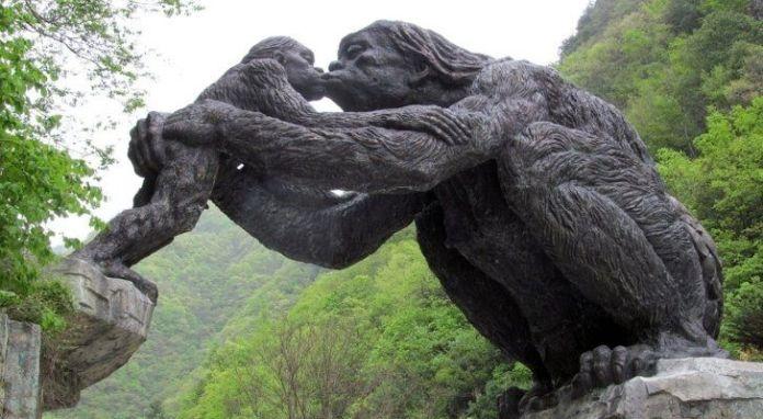Yeren wild man statue