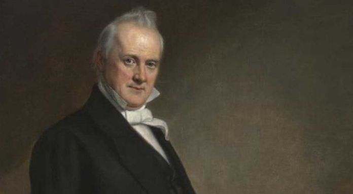 A painting of former president James Buchanan