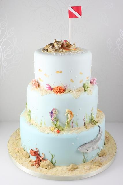 Click To Enlarge Image Sealife Wedding Cake Jpg