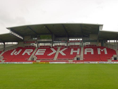 The oldest stadium in the world to still host international matches - Wrexham's Racecourse stadium