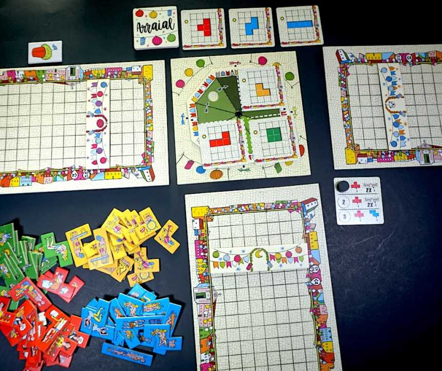 Arraial setup for 3 players