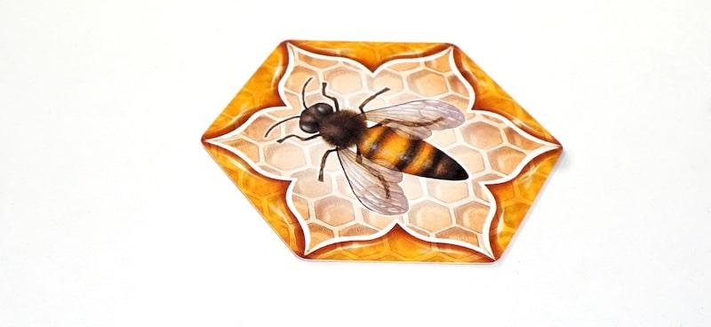 Queen bee hexagon card