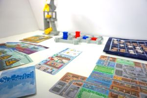 Building Games: Tournament of Towers, Castellan, Sprawlopolis, Supertall, Machi Koro, The Stars Align