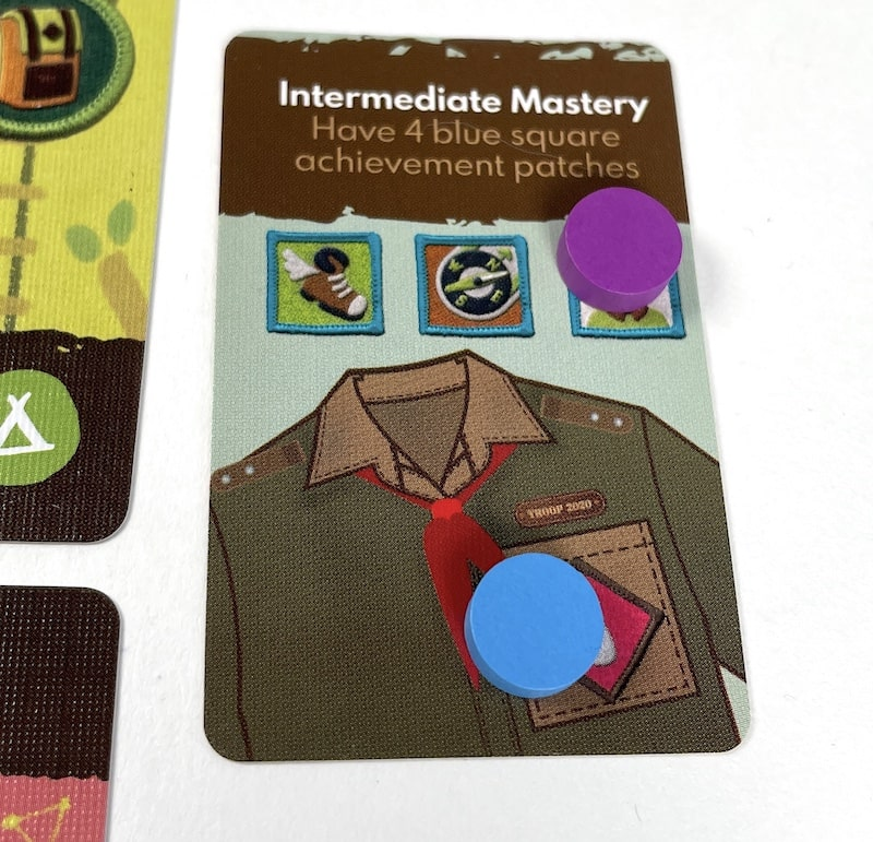 Intermediate Mastery: Have 4 blue square achievement patches
