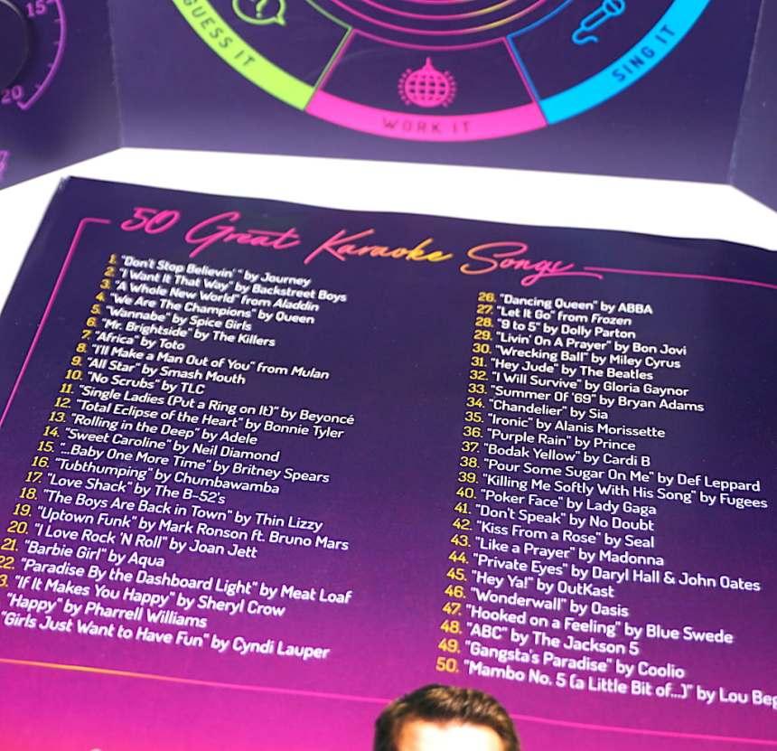 pamphlet: 50 Great Karaoke Songs