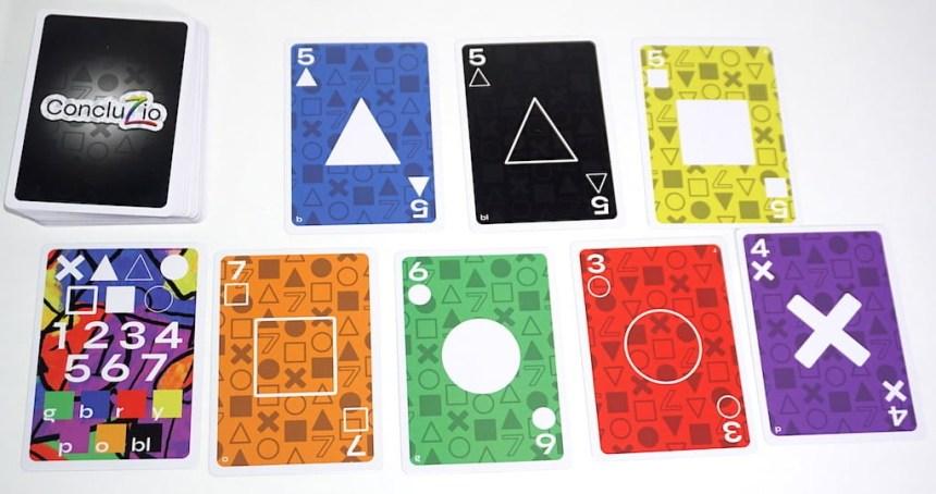an assortment of Concluzio cards