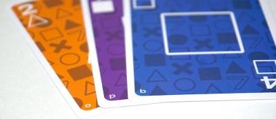 Three cards: o, p, b