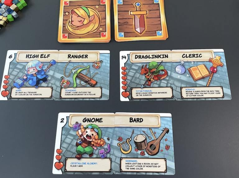 Pairs of cards: High Elf / Ranger; Draglinkin / Cleric; Gnome / Bard