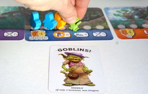 Goblins! card tells you to add a goblin to the middle location.