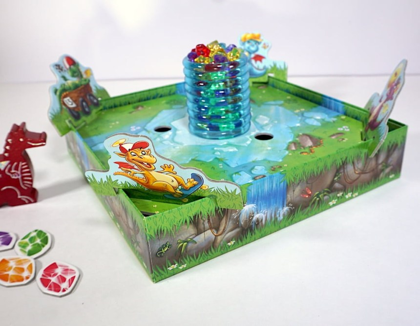 Dragon Dad watches over the ice column in the center of the board in Dragon's Breath