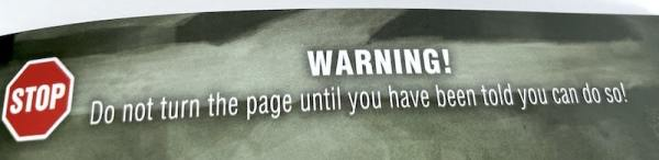 Warning! Do not turn the page until you have been told you can do so!
