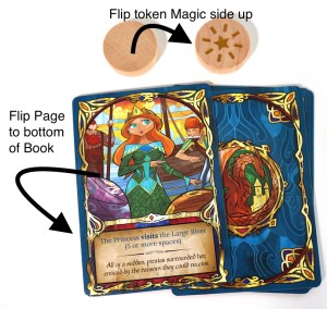 Flip Page to bottom of Book; Flip token Magic side up