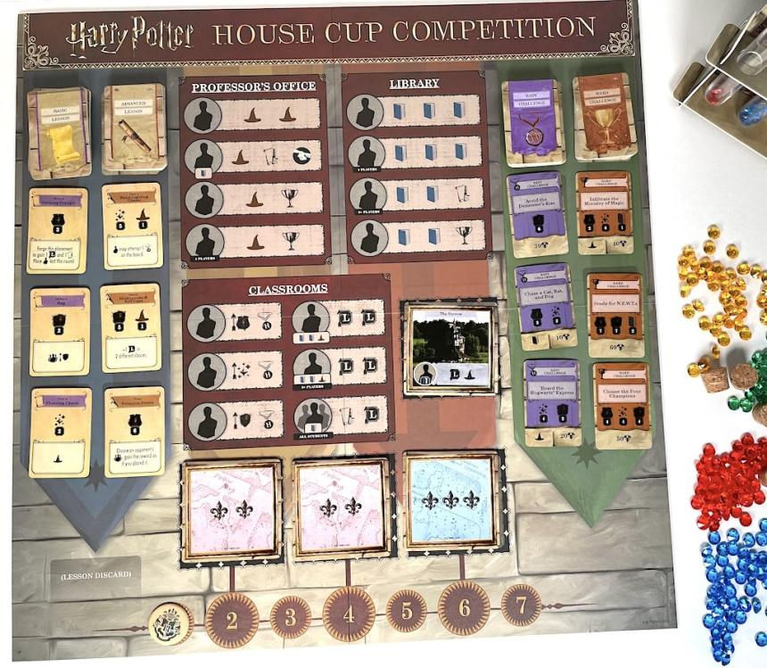 Harry Potter House Cup Competition - central board