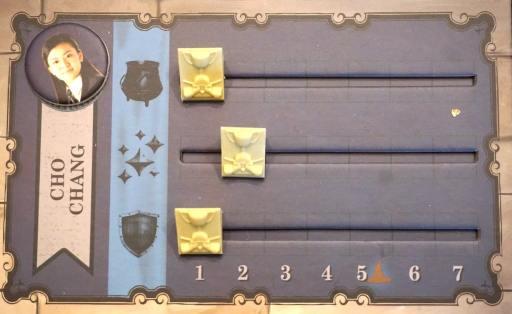 Cho Chang: potions 1, charms 2, defense 3