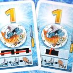 IceCOOL2 fish cards with value 1: trick shots and ice skates