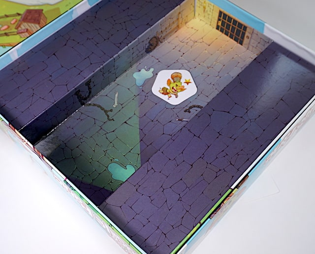 My First Castle Panic box bottom is the dungeon for defeated monsters