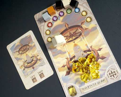Yellow temple card and yellow temple objective